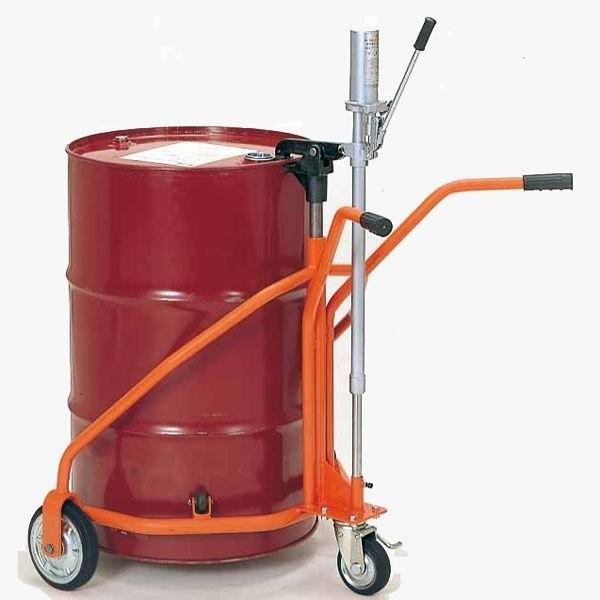 (代引不可)ヨドノ:軽便ドラムカー プレス車輪付 300kg No.60-300