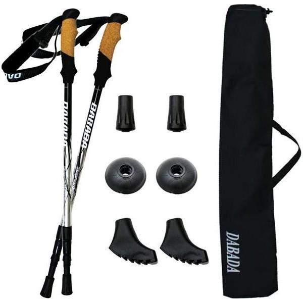 国内正規総代理店アイテム 100円クーポン 日時指定 あすつく DABADA ダバダ :トレッキングポールSG シルバー 2本セット SGマーク取得 a-pole 登山杖 アルミ製