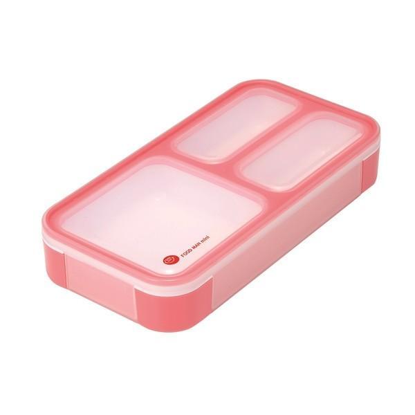 シービージャパン:薄型弁当箱 フードマンミニ 400ml チェリーピンク