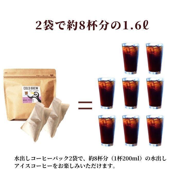 水出し アイスコーヒー ギフト 60g(800ml用)×2 パック 2種類 セット コロンビア ブラジルショコラ | お中元 父の日 父親 サマーギフト プレゼント 挨拶 お礼|coffeeyabu|10