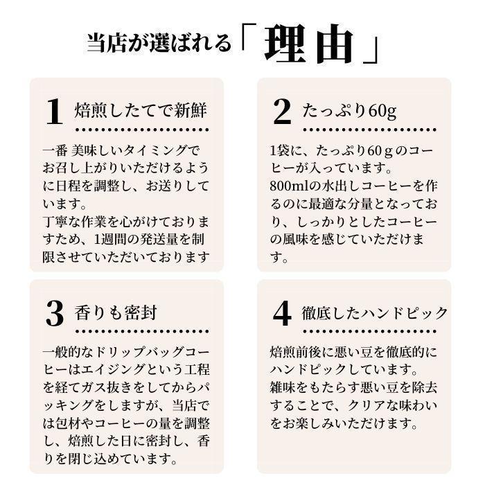 水出し アイスコーヒー ギフト 60g(800ml用)×2 パック 2種類 セット コロンビア ブラジルショコラ | お中元 父の日 父親 サマーギフト プレゼント 挨拶 お礼|coffeeyabu|12