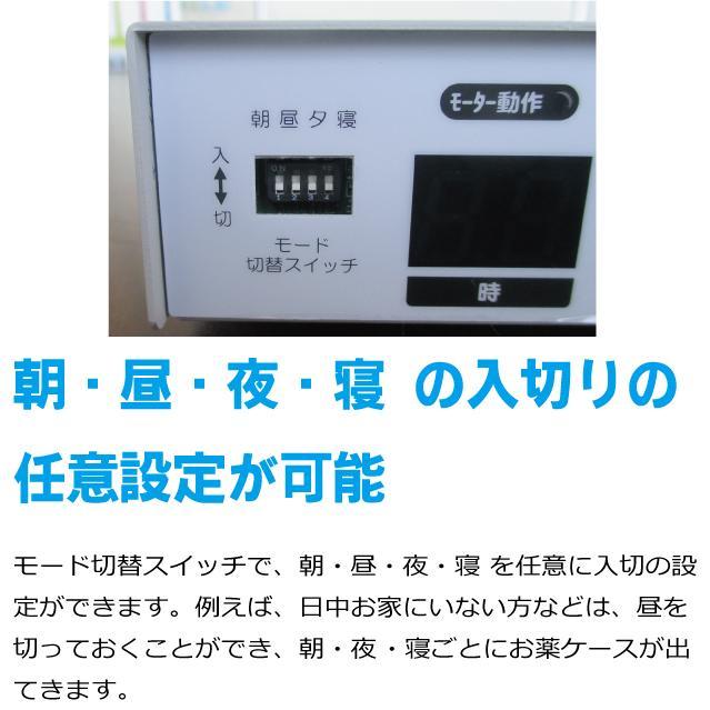 服薬管理ROBO『コッくんお薬よ〜』 4棟式(朝・昼・夜・寝 タイプ) cokkun 04