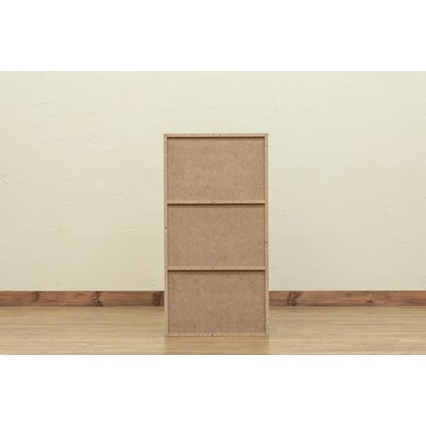 GRANZ 3段ラック 扉3枚付 hmp25 オープンシェルフ 本棚 チェスト キッチン収納 シューズボックス ブラック ホワイト|colabotrading|06