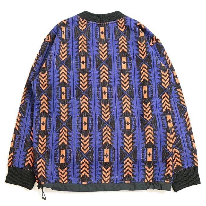ユニセックス メンズ レディース レイジセーター NT41961 AP ノースフェイス RAGE Sweater THE NORTH FACE アズテックブルー×ペルシャンオレンジ