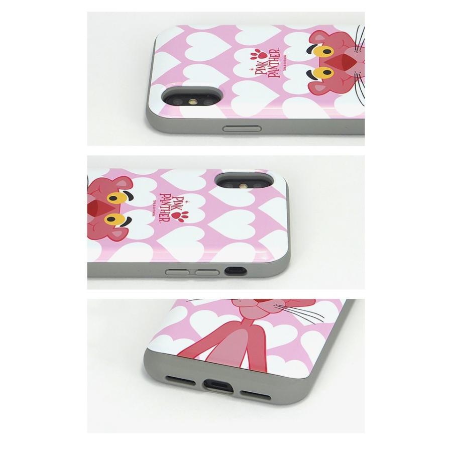 スマホケース iPhoneXS/X/SE(第2世代)/8/7 ピンクパンサー 耐衝撃 スライド ミラー ケース 鏡付き キャラクター かわいい 可愛い collaborn-plus 03