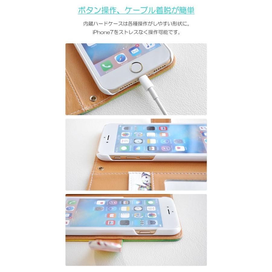 スマホケース iPhoneSE(第2世代)/8/7/6s/6 手帳型 ケース 猫 おしゃれ 手帳 横 縦 カード収納 シロクマ しろくま フラミンゴ collaborn-plus 06