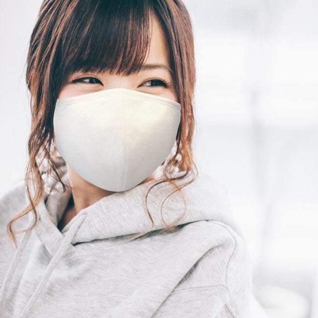 ナノ抗菌バンブーマスク 日本製 洗濯機 | 大きめ ホワイト ピンク 黒 ライトグレー 暖かい 秋冬 オシャレ 大人用 生地 クレンゼ|collaborn-plus|03