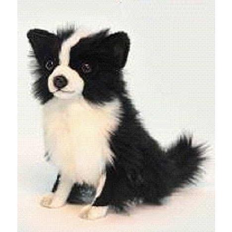 ハンサ【HANSA】ぬいぐるみチワワ31cm わんこ ワンちゃん 犬 いぬ イヌ 白黒 ペット|collecolle