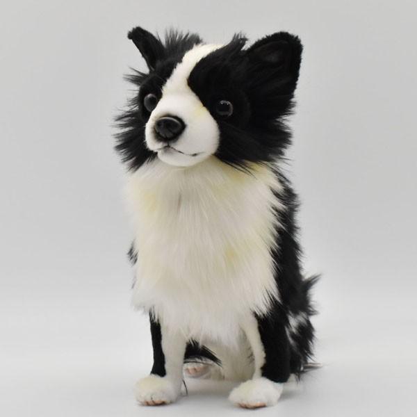 ハンサ【HANSA】ぬいぐるみチワワ31cm わんこ ワンちゃん 犬 いぬ イヌ 白黒 ペット|collecolle|02