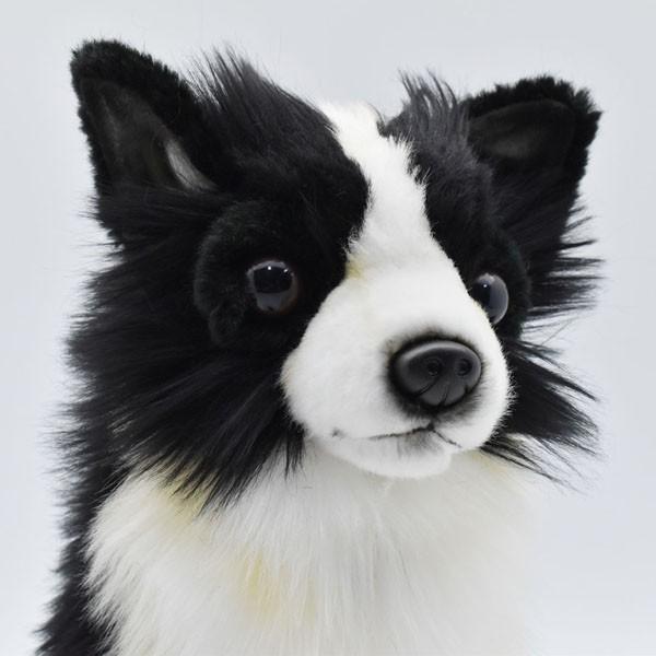 ハンサ【HANSA】ぬいぐるみチワワ31cm わんこ ワンちゃん 犬 いぬ イヌ 白黒 ペット|collecolle|05