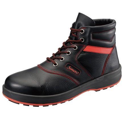 SIMON・シモン 安全靴 編上靴 SL22-R黒/赤 25.0cm 1700240