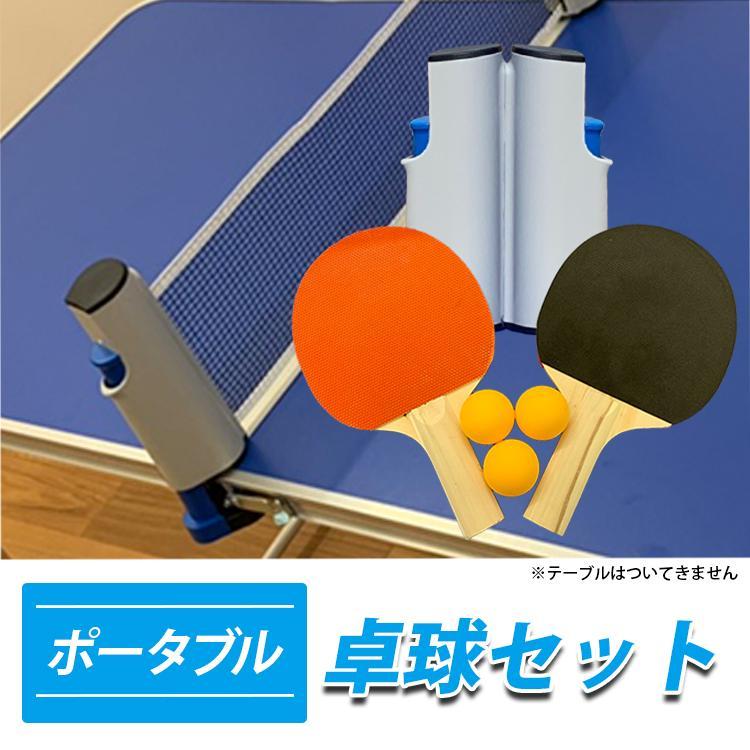 地球家具 卓球セット アウトドア 卓球 ラケット2つ ボール3つ ネット付|collectioncasestore