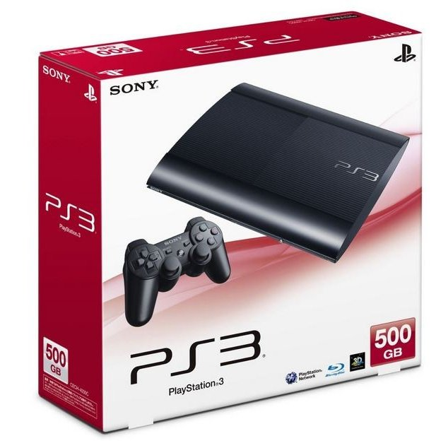 PS3 プレステ3 本体 チャコールブラック 500GB(CECH-4000C) 説明書/中箱無しのため特価(管理:461044)