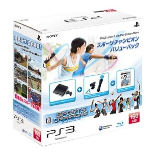 PS3 プレステ3 本体 PlayStation Move スポーツチャンピオン バリューパック 160GB (管理:461029)