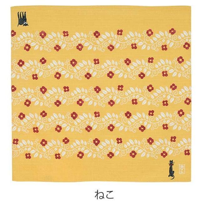 風呂敷 チーフ 竹久夢二 48cm ふろしき ナフキン ランチクロス ( お弁当包み 猫 ねこ )|colorfulbox|03