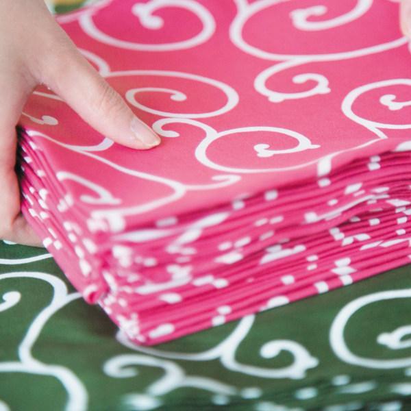 風呂敷 エコバッグ 150cm 大判 京唐草 着物包み 晴れ着包み ふろしき 綿100% ( 綿 きもの包み 衣装包み 衣裳包み )|colorfulbox|07