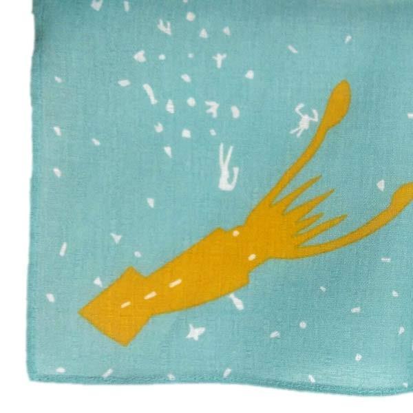 風呂敷 中巾 チーフ katakata むすび くじら 50cm ふろしき ナフキン ランチクロス 綿100% ( 綿 包み お弁当包み キッチンクロス ) colorfulbox 04