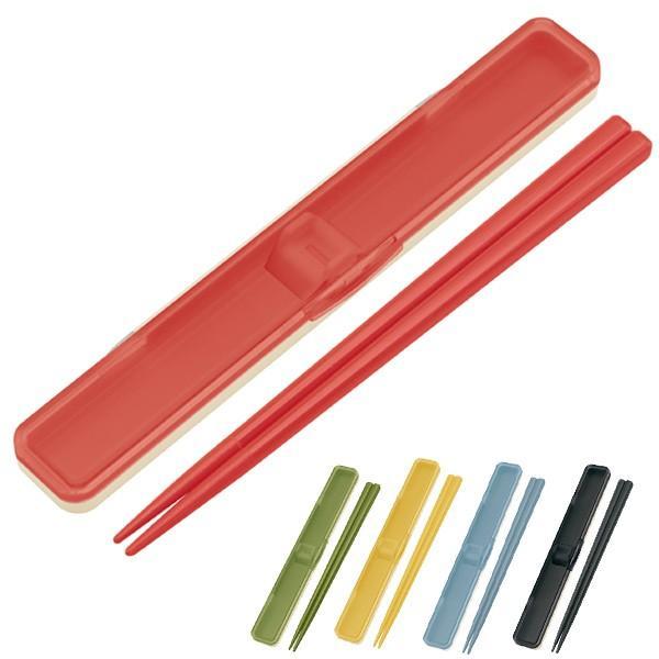 箸&箸箱セット レトロフレンチカラー 音の鳴らないクッション付 18cm ( 食洗機対応 はし 箸ケース )