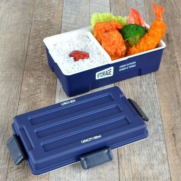 お弁当箱 1段 仕切付き STORAGE コンテナランチ 900ml ランチボックス ( レンジ対応 食洗機対応 弁当箱 男性 大容量 ドーム型 おしゃれ おすすめ ) colorfulbox 14