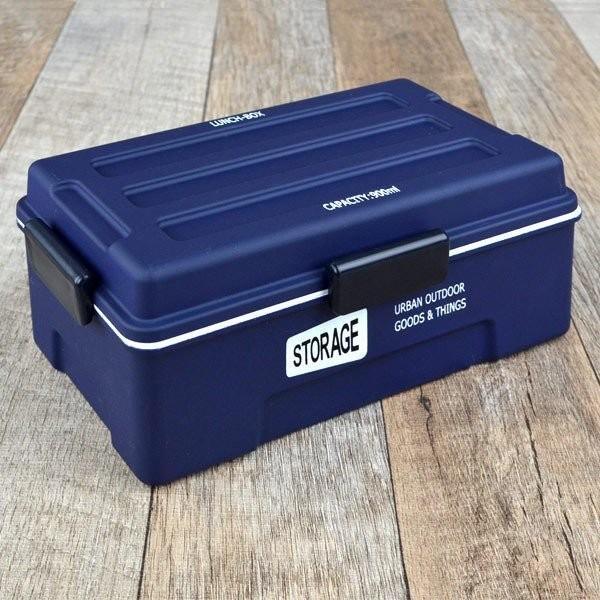 お弁当箱 1段 仕切付き STORAGE コンテナランチ 900ml ランチボックス ( レンジ対応 食洗機対応 弁当箱 男性 大容量 ドーム型 おしゃれ おすすめ ) colorfulbox 15