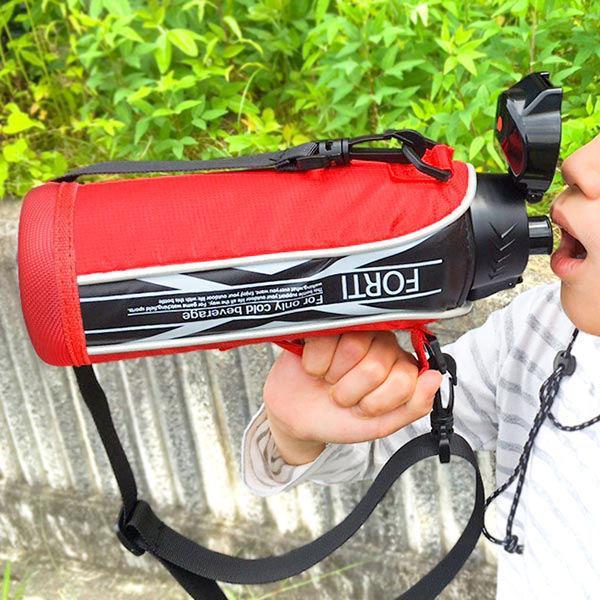 水筒 730ml ステンレス 直飲み ワンタッチ 保冷 NEWフォルティ ブラック レッド カバー付 ( ダイレクトボトル 子供 )|colorfulbox|18