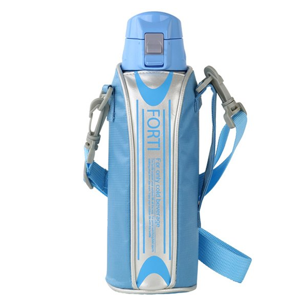 水筒 ステンレス 直飲み ワンタッチ ダイレクトステンレスボトル NEWフォルティ 1L カバー付 保冷専用 ( 1リットル ダイレクトボトル 保冷 おすすめ ) colorfulbox 17