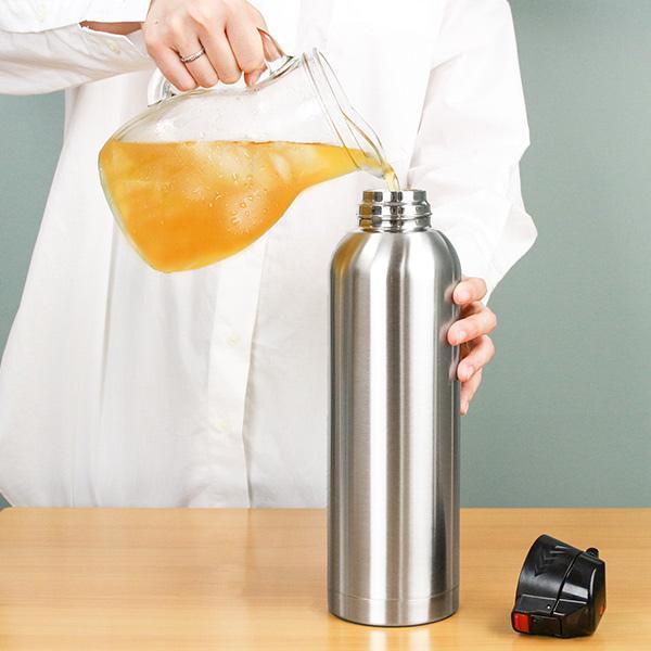 水筒 ステンレス 直飲み ワンタッチ ダイレクトステンレスボトル NEWフォルティ 1.5L カバー付 保冷専用 ( ダイレクトボトル 保冷 おすすめ おすすめ )|colorfulbox|06