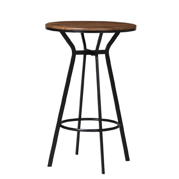 ハイテーブル 丸型 スチールフレーム 直径60cm ( テーブル カウンターテーブル バーテーブル バーテーブル ラウンドテーブル 円形 アイアン )