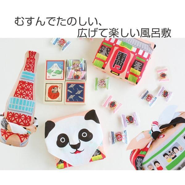 風呂敷 中巾 福コチャエ 東京サーモンピンク 48cm ランチクロス ( ふろしき 日本製 お弁当包み )|colorfulbox|02