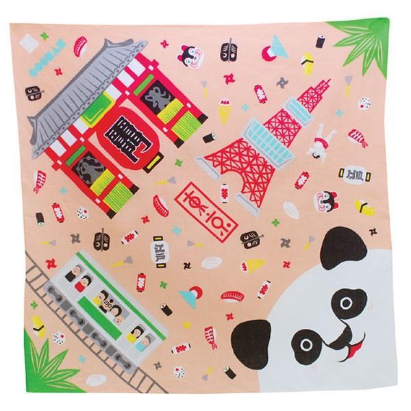 風呂敷 中巾 福コチャエ 東京サーモンピンク 48cm ランチクロス ( ふろしき 日本製 お弁当包み )|colorfulbox|03