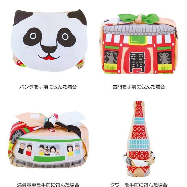 風呂敷 中巾 福コチャエ 東京サーモンピンク 48cm ランチクロス ( ふろしき 日本製 お弁当包み )|colorfulbox|04