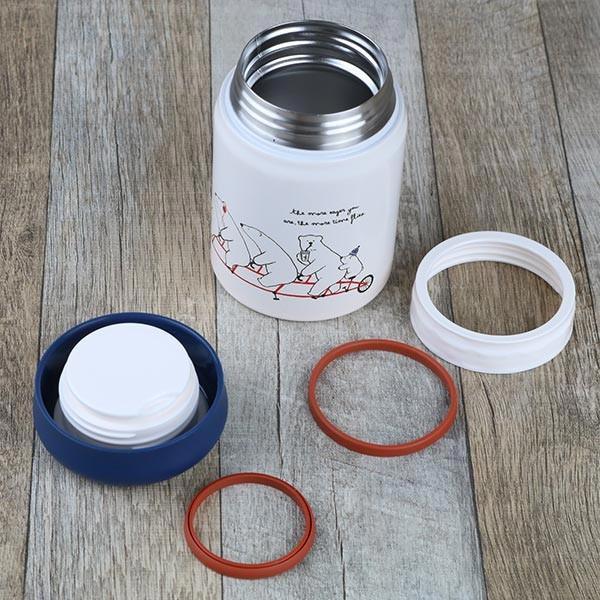 保温弁当箱 RWスープジャー POLARBEAR フードポット しろくま ステンレス製 320ml ( お弁当箱 スープポット 保温 保冷 おすすめ ) colorfulbox 05