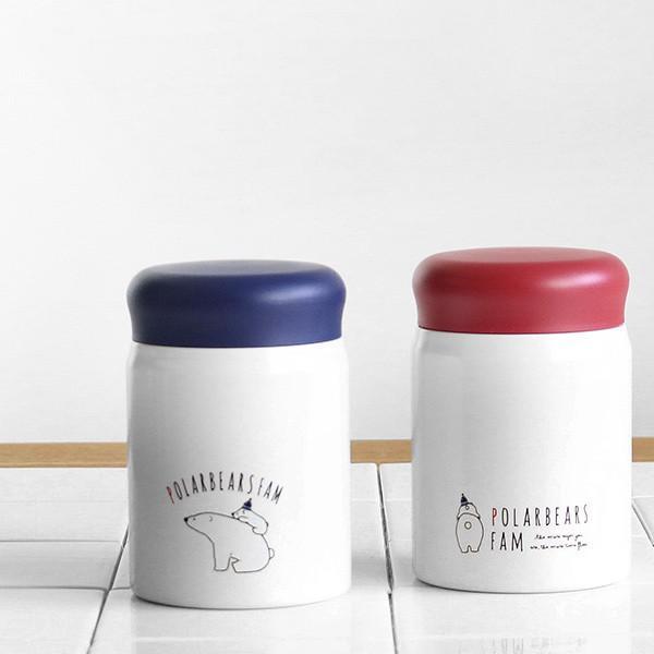 保温弁当箱 RWスープジャー POLARBEAR フードポット しろくま ステンレス製 320ml ( お弁当箱 スープポット 保温 保冷 おすすめ ) colorfulbox 09