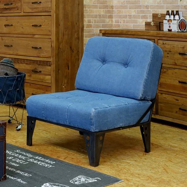ソファ 1人掛け インダストリアル風 スチールフレーム カーター 幅66cm ( ソファー 椅子 イス チェア )