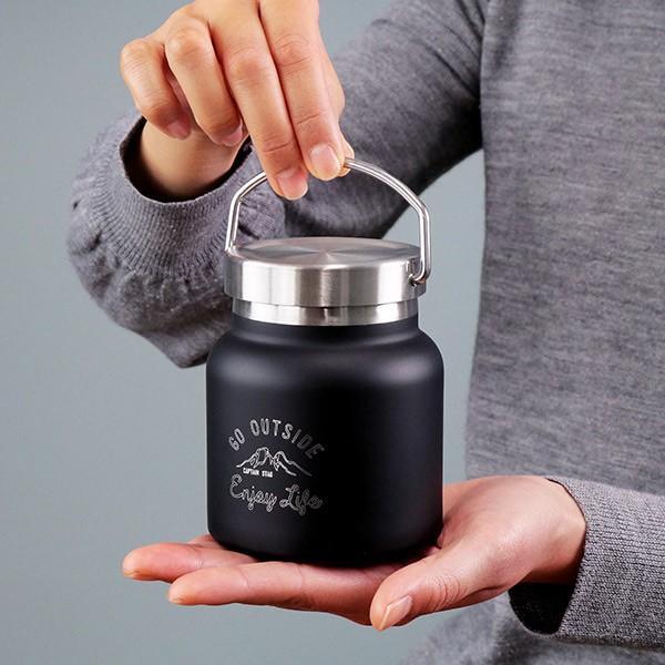 保温弁当箱 スープジャー モンテ キャプテンスタッグ CAPTAINSTAG HDフードポット 280ml 保温 保冷 ( 真空二重構造 スープボトル ステンレス スープマグ ) colorfulbox 04