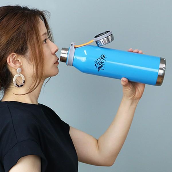 水筒 ステンレス 直飲み 1L トライエックス ダイレクトボトル 保冷 保温 ( スリム ステンレスボトル スリムボトル おすすめ ) colorfulbox 11