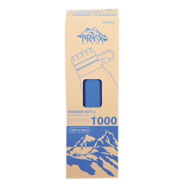 水筒 ステンレス 直飲み 1L トライエックス ダイレクトボトル 保冷 保温 ( スリム ステンレスボトル スリムボトル おすすめ ) colorfulbox 12