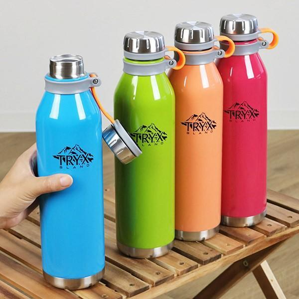 水筒 ステンレス 直飲み 1L トライエックス ダイレクトボトル 保冷 保温 ( スリム ステンレスボトル スリムボトル おすすめ ) colorfulbox 17