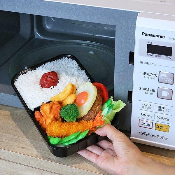 お弁当箱 1段 ガッツリ パッキン付 1000ml ( 弁当箱 大容量 仕切り付 1L 日本製 おすすめ )|colorfulbox|02