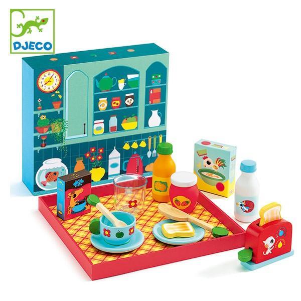 【クーポン配布中】 おもちゃ 木製 ブレックファーストタイム 朝食 おままごと ジェコ DJECO ( ままごと セット キッチン 朝ごはん )