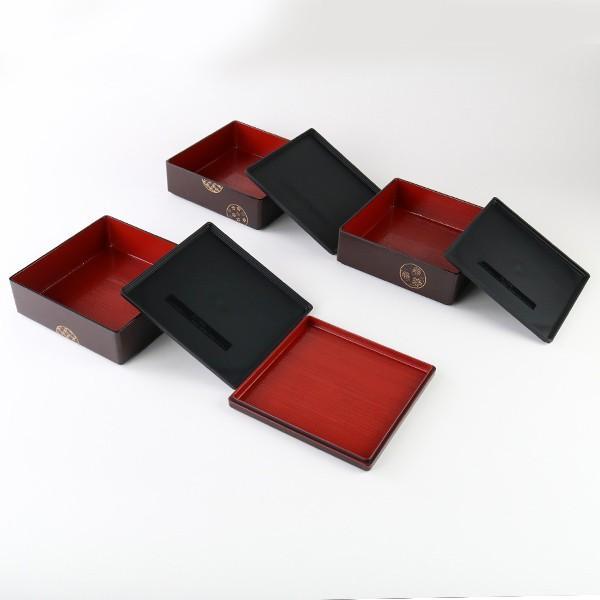 お弁当箱 6.5三段重 木目 小紋 シール蓋付 5700ml ( 弁当箱 お重 おせち 5〜6人用 和柄 お正月 )|colorfulbox|06