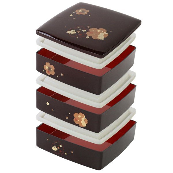 お弁当箱 6.5三段重 溜 夢春秋 シール蓋付 4800ml ( お重 ファミリーランチボックス 日本製 おすすめ )|colorfulbox|06