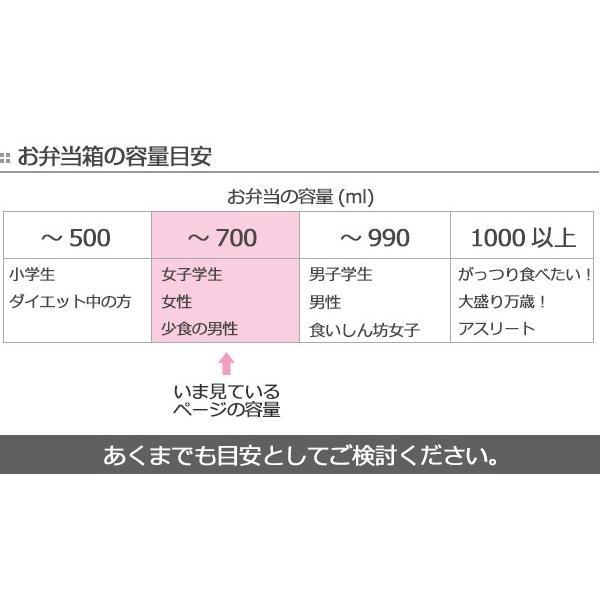 お弁当箱 オベロ ワイド ランチボックス 1段 650ml 日本製 ( 弁当箱 電子レンジ対応 食洗機対応 おすすめ ) colorfulbox 09