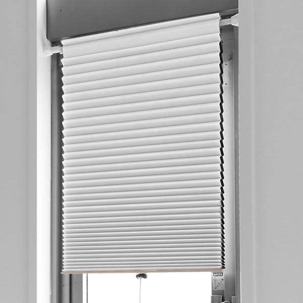 断熱スクリーン 遮光 突っ張り棒なし 幅59×高さ90cm UVカット 小窓用断熱スクリーン ハニカムシェード ( 小窓 カーテン シェード ) colorfulbox 11