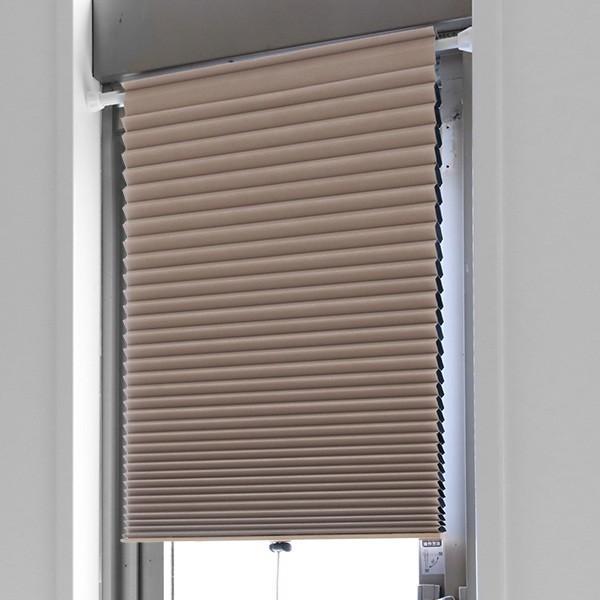 断熱スクリーン 遮光 突っ張り棒なし 幅59×高さ90cm UVカット 小窓用断熱スクリーン ハニカムシェード ( 小窓 カーテン シェード ) colorfulbox 12