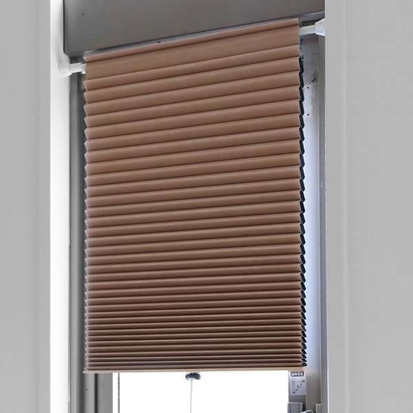 断熱スクリーン 遮光 突っ張り棒なし 幅59×高さ90cm UVカット 小窓用断熱スクリーン ハニカムシェード ( 小窓 カーテン シェード ) colorfulbox 13