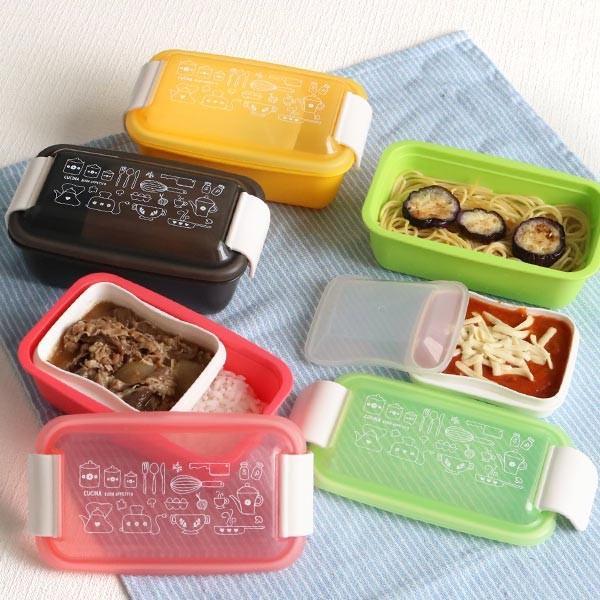 お弁当箱 1段 2段 2way クチーナ セパレートランチボックス 500ml〜670ml ( 弁当箱 レンジ対応 食洗機対応 日本製 おすすめ )|colorfulbox|16