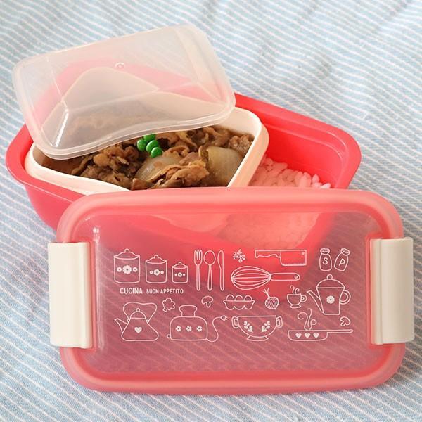 お弁当箱 1段 2段 2way クチーナ セパレートランチボックス 500ml〜670ml ( 弁当箱 レンジ対応 食洗機対応 日本製 おすすめ )|colorfulbox|05