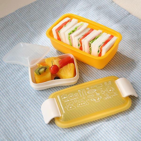 お弁当箱 1段 2段 2way クチーナ セパレートランチボックス 500ml〜670ml ( 弁当箱 レンジ対応 食洗機対応 日本製 おすすめ )|colorfulbox|07