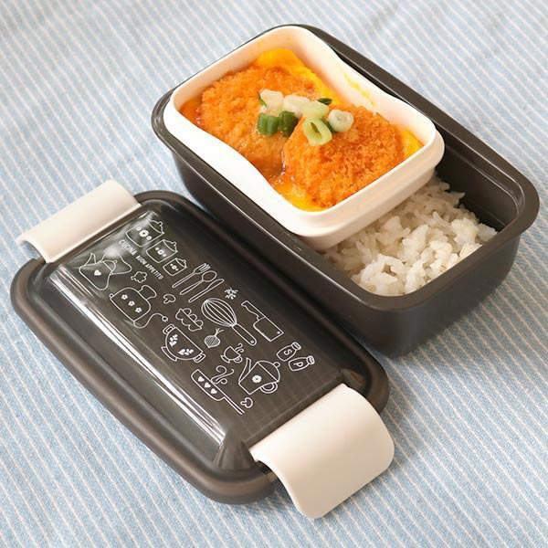 お弁当箱 1段 2段 2way クチーナ セパレートランチボックス 500ml〜670ml ( 弁当箱 レンジ対応 食洗機対応 日本製 おすすめ )|colorfulbox|08